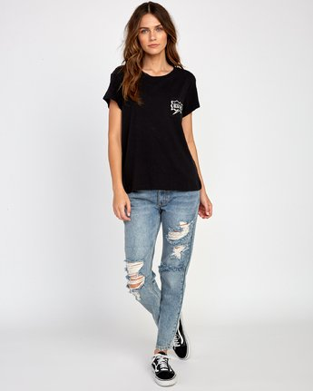 4 Explosive Relaxed T-Shirt Black W412VREX RVCA