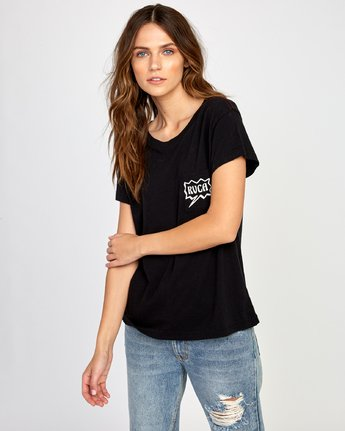 1 Explosive Relaxed T-Shirt Black W412VREX RVCA