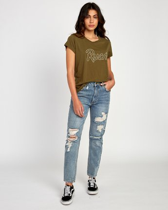 4 Flow Relaxed T-Shirt  W412VRFL RVCA