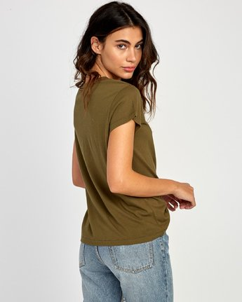 2 Flow Relaxed T-Shirt Green W412VRFL RVCA
