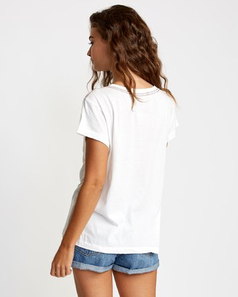 1 Flow Relaxed T-Shirt White W412VRFL RVCA