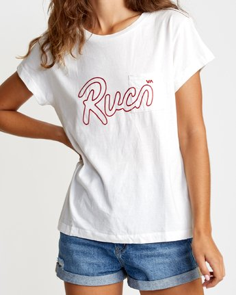 2 Flow Relaxed T-Shirt White W412VRFL RVCA