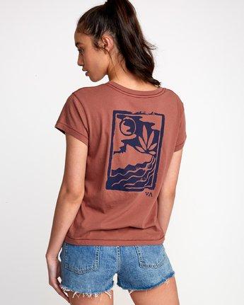 0 Linocut Relaxed T-Shirt Brown W412VRLI RVCA