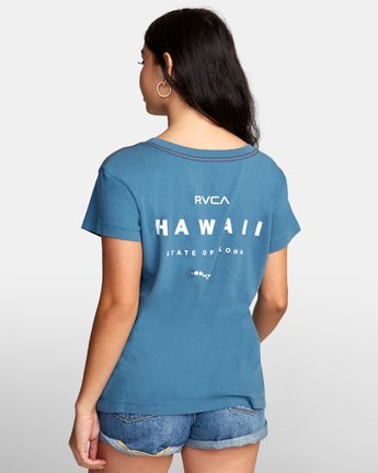 2 Da Aina T-Shirt Green W412WRDF RVCA