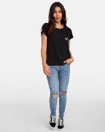 4 Lateral Pocket T-Shirt Black W412WRLA RVCA