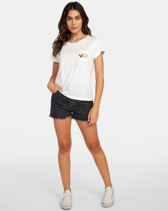 4 Lateral Pocket T-Shirt White W412WRLA RVCA