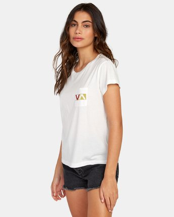 1 Lateral Pocket T-Shirt White W412WRLA RVCA