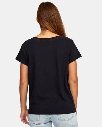 2 Phil Street Pocket T-Shirt Black W412WRPH RVCA