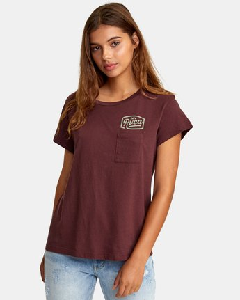 0 Phil Street Pocket T-Shirt Brown W412WRPH RVCA