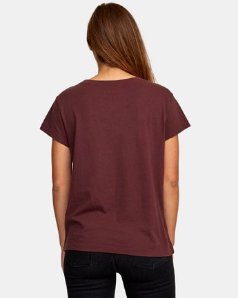 2 Pinscript Pocket T-Shirt  W412WRPI RVCA