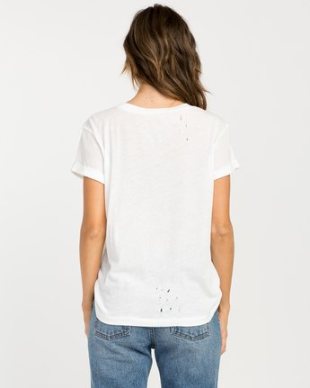 2 Skratch T-Shirt White W420PRSK RVCA