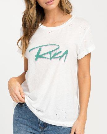 3 Skratch T-Shirt White W420PRSK RVCA