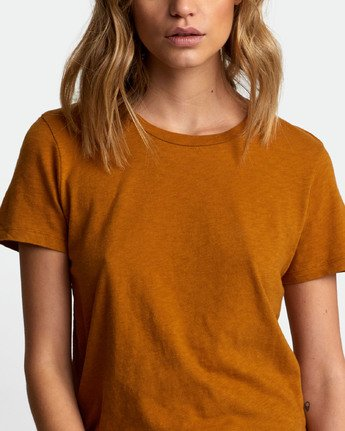 4 Solid Label Baby T-Shirt Brown W433URLA RVCA