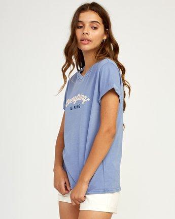 1 Everything Is Fine T-Shirt Blue W436TREV RVCA