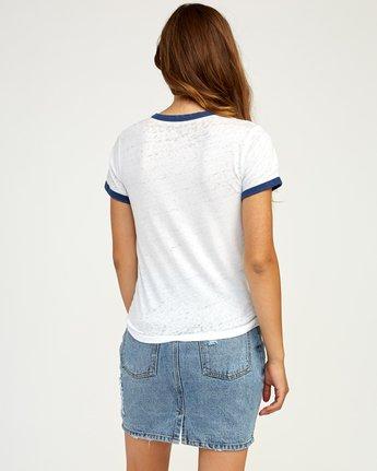 4 Double Vision Ringer T-Shirt White W437TRDO RVCA
