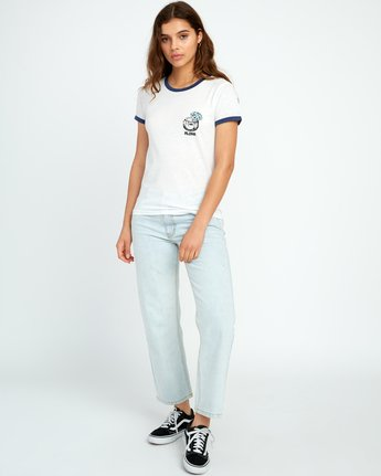 3 Alex Matus Coco Ringer T-Shirt White W437TRMS RVCA