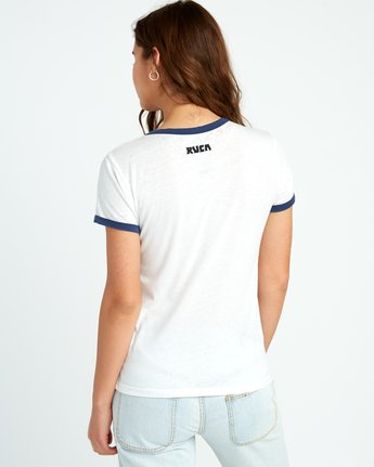 2 Alex Matus Coco Ringer T-Shirt White W437TRMS RVCA