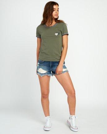 4 Lovestrung Burnout Ringer T-Shirt Green W437URLO RVCA