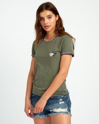 2 Lovestrung Burnout Ringer T-Shirt Green W437URLO RVCA