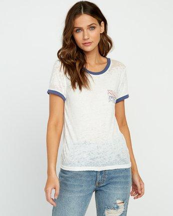 1 Offset Burnout Ringer T-Shirt White W437UROF RVCA