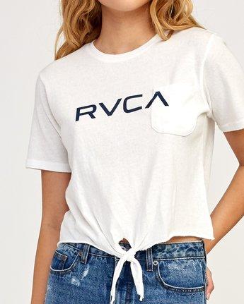 3 Big RVCA Knotted T-Shirt White W438TRBI RVCA
