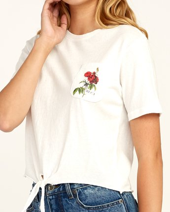 4 Widow Knotted T-Shirt White W438TRWI RVCA