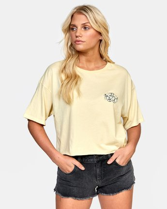 0 ELI FLASH BOYFRIEND CROP TEE Grey W4412REF RVCA