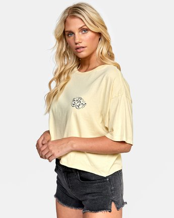 2 ELI FLASH BOYFRIEND CROP TEE Grey W4412REF RVCA