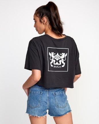 0 Modern Crest Cropped T-Shirt Black W441VRMO RVCA
