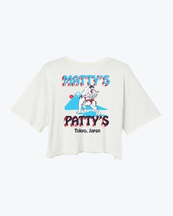 0 Matty's Patty's Tokyo Cropped T-Shirt White W441VRMT RVCA