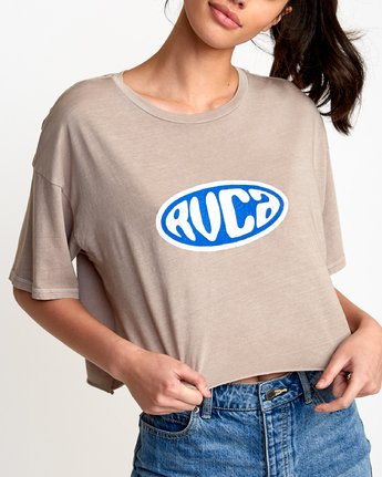 2 Slacker Cropped T-Shirt  W441VRSL RVCA