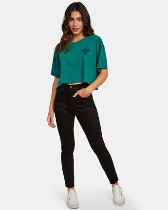 4 Coils Cropped T-Shirt  W441WRCO RVCA