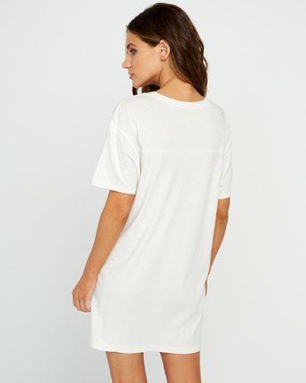 2 Next Wave T-Shirt Dress Grey W442URNE RVCA