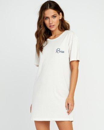 0 Next Wave T-Shirt Dress Grey W442URNE RVCA