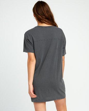 3 Next Wave T-Shirt Dress Black W442URNE RVCA