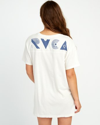 3 Vinyl Knit T-Shirt Dress Grey W442URVI RVCA