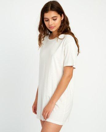 2 Vinyl Knit T-Shirt Dress Grey W442URVI RVCA