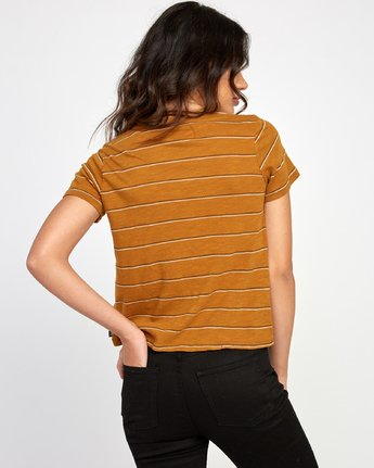 2 Sirens Striped Baby T-Shirt Orange W443VRSI RVCA
