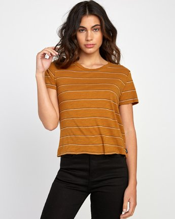 0 Sirens Striped Baby T-Shirt Orange W443VRSI RVCA