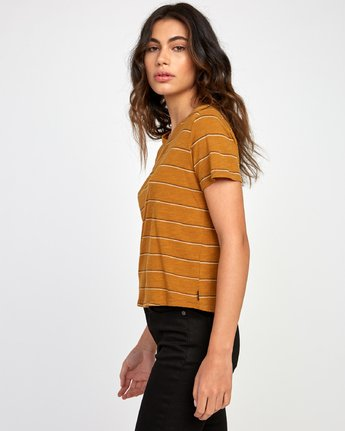 1 Sirens Striped Baby T-Shirt Orange W443VRSI RVCA