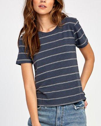 3 Sirens Striped Baby T-Shirt Black W443VRSI RVCA