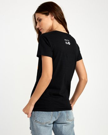 2 Beautiful Losers Womens T-Shirt Black W444QRBL RVCA