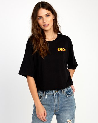 1 Matty's Patty's Cropped T-Shirt Black W444URMD RVCA