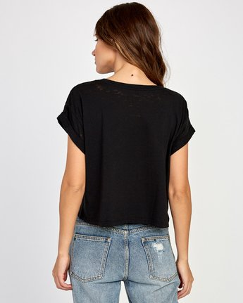 2 Polinate Cropped T-Shirt Black W445VRPO RVCA