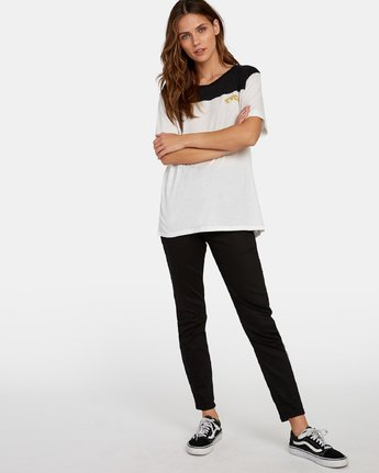 4 Cooper Burnout T-Shirt White W446WRCO RVCA