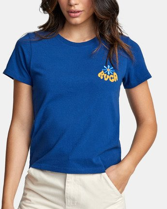 4 HAPPY DAYS T-SHIRT Blue W4471RHD RVCA