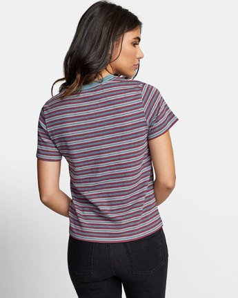 3 MURPHY STRIPED T-SHIRT Blue W4471RMU RVCA