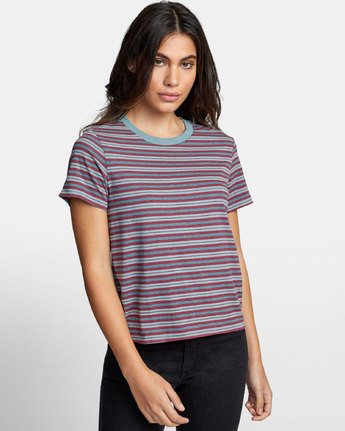 0 MURPHY STRIPED T-SHIRT Blue W4471RMU RVCA