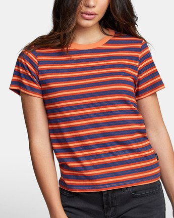 4 MURPHY STRIPED T-SHIRT Blue W4471RMU RVCA