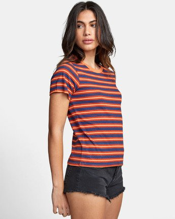 2 MURPHY STRIPED T-SHIRT Blue W4471RMU RVCA